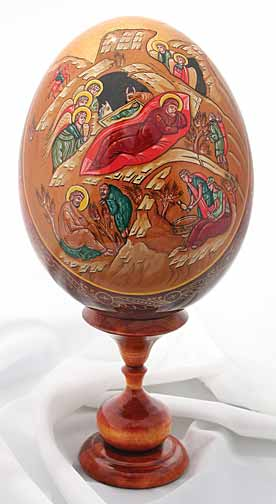Икона нарисувана върху яйце